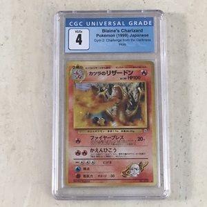Blaine's Charizard Pokémon Holo Japanese 006 CGC 4